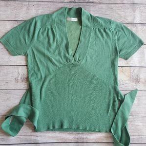 Womens Topshop tie back sweater